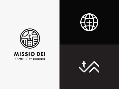 Missio Dei Logo global mission logo community branding church