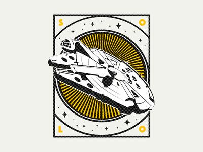 Solo badge falcon millennium han solo spaceship starwars