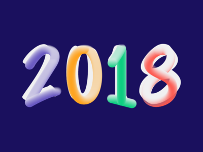 2018 typography lettering livehire happy new year 2018
