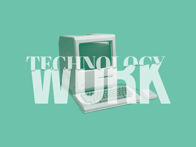 Technology / Work computer pc mac editorial work typography technology
