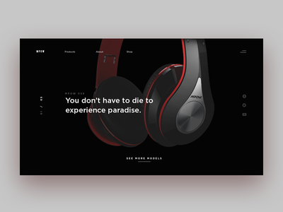 Mpow headphones ui wireless minimal ux product website product design headphones purchase wholesale product ui design