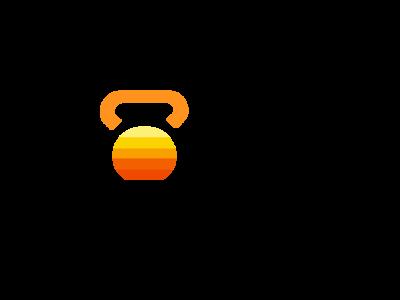 Sunburst Crossfit sunset illustration logo sun fitness logo gym logo crossfit sun logo