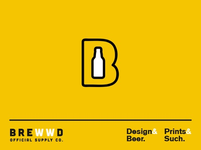 New Brewwd beer icon logo suds and buds
