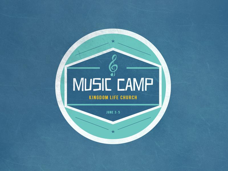 Music Camp music badge logo camp church
