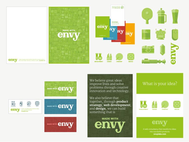 Made With Envy brand rebrand logo illustration identity