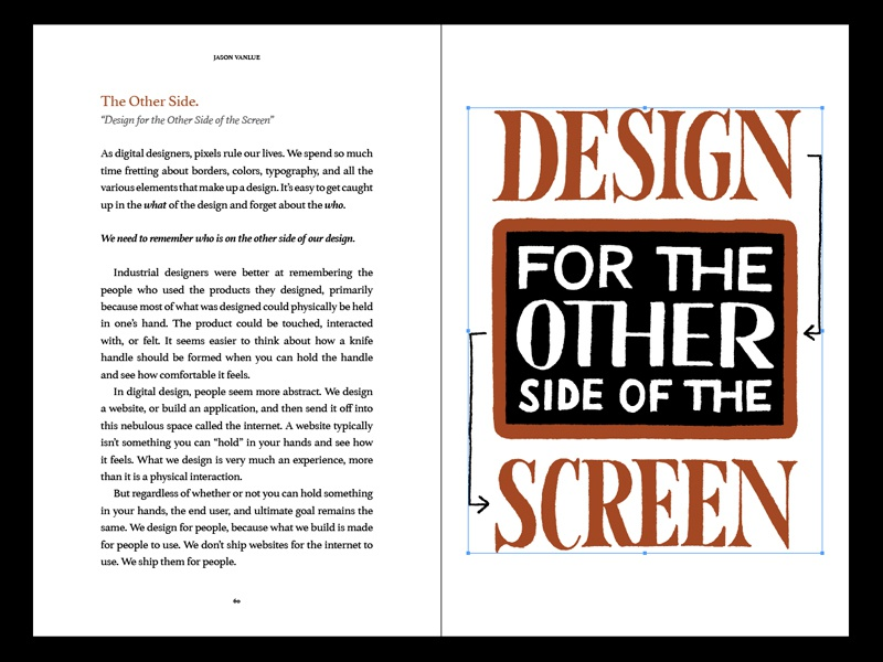 Final Check book illustration typography layout
