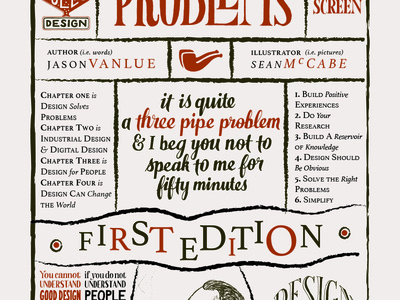 Three Pipe Cover book illustration typography layout cover
