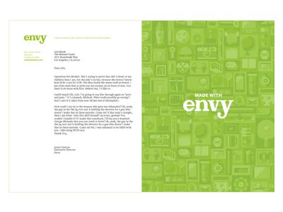 Envy Letterhead letterhead print brand logo stationary