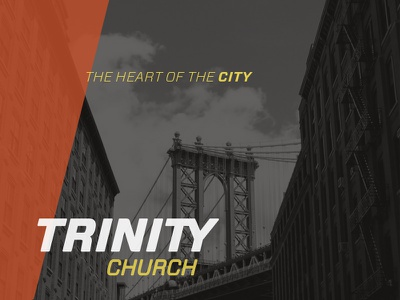 Heart Of The City church logo trinity logomark wordmark