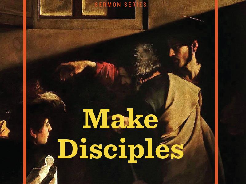 Make Disciples booklet flyer sermon church art typography print
