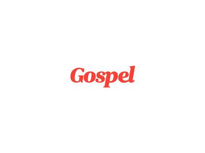 Gospel logo typography logotype brand type script