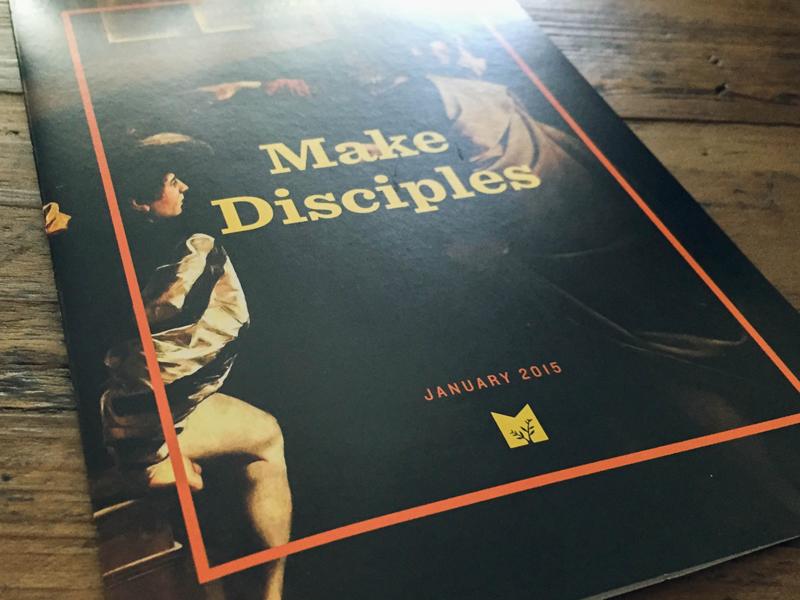 Make Disciples Flyer flyer booklet disciple print typography art church