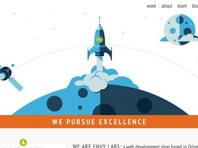 Envy Redesign redesign web ui agency portfolio rockets robots responsive