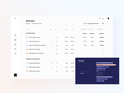 Finance accounting data table dashboard ui