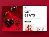 Beats by dr.dre web design