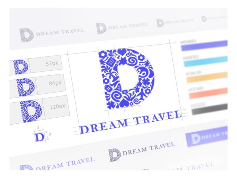 Dream travel logo travel