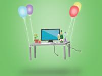 Office Anniversary Illustration