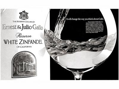 Gallo Wine pen  ink illustration stipple food beverage advertising