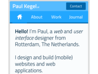 Version 2 - Personal mobile website