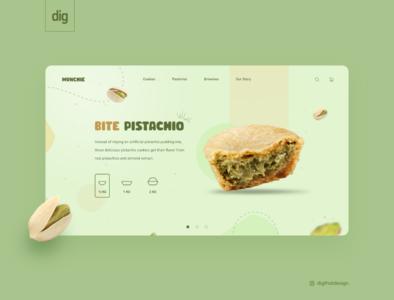 BIte Pistachio @bite @bite @challenge @foodie @webslider @food @pistachio @sweets @cookies @webdesign @website @ui illustration @design