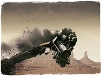 A train explosion