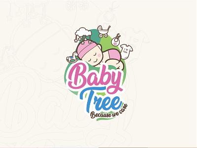 Babytree-logo typography design vector illustration graphic  design branding baby shop brand logo