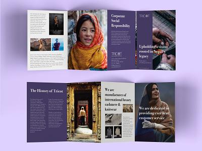 Tricot Brochure A5 4fold brochure branding graphic  design