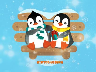 cute penguins  christmas snow winter penguins love