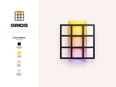 Grids - Big Sur 3d Icon blender 3d blender ux macos icon ios app ios14 macos appstore apple 3d art ios icon logo branding icon big sur 3d