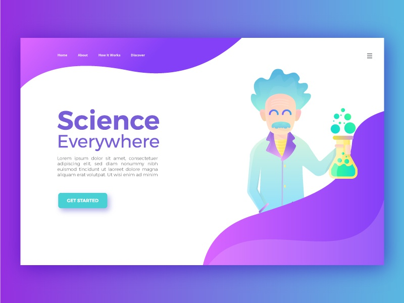 Landing page for science web