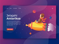 Discover space landing page