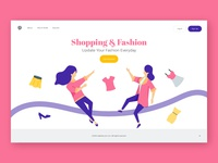 Shoping And Fashion Landing Page