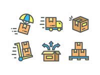 Box Delivery icon set