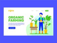 Organic Farming Landing Page UI