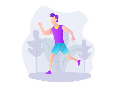 Jogging illustration run jogging