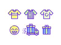 Ecommerce simple set icon