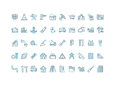 50 Construction Icon Set Free Download industry building construction icon