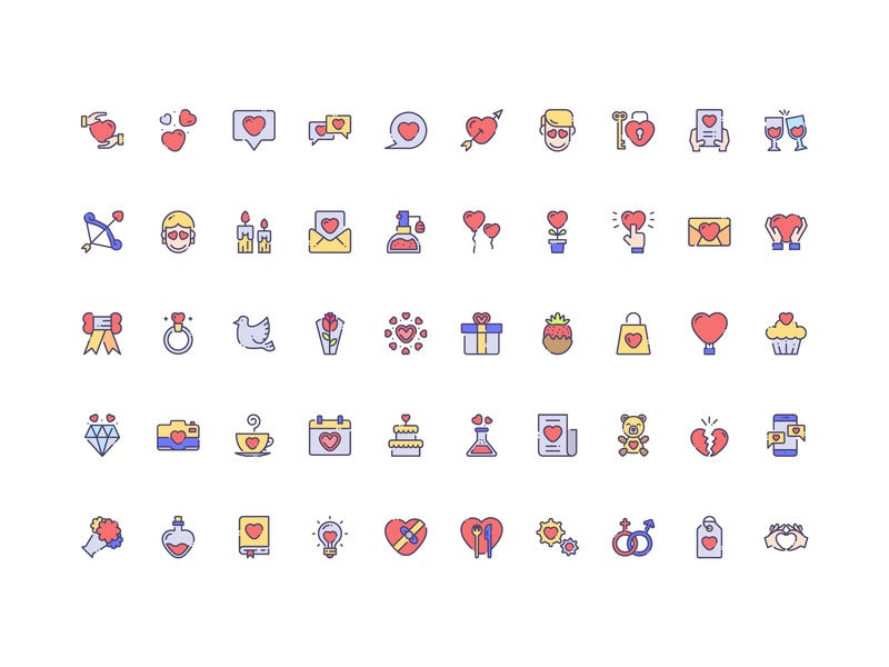 50 Love Icon Set Free Download heart icon women heart romantic marriage love