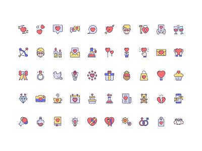 50 Love Icon Set Free Download heart icon women heart romantic marriage love