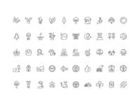 50 Nature Icon Set Free Download