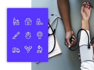 Medical Outline icons medicine hospital medical icons