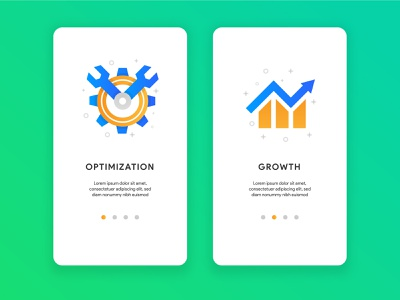 Growth and optimization icon mobile ui apps optimization growth icons