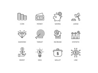 Finance set icon