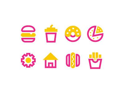 Fast food for apps ui potato pizza hotdog icon burger fast food menu fast food