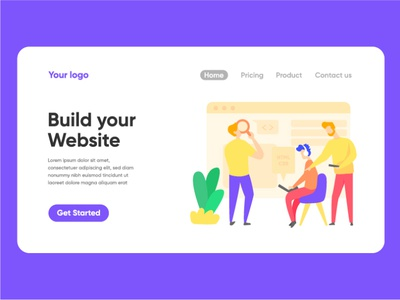 Build website landing page illustration