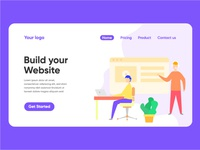 Build your website landing page illustration