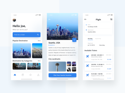 Flight Booking App for Traveller app mobile user interface iphone x clean simple minimalism travel booking flight