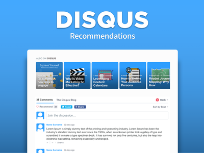 Disqus Recommendations feature web comments interface ux ui blog recommendations disqus
