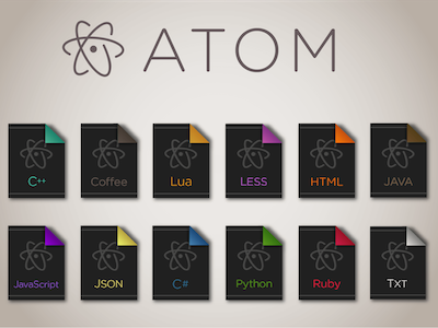 Atom File Icons programming editor code atom icons icon file
