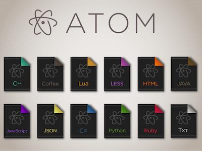 Atom File Icons programming editor code atom icons icon file